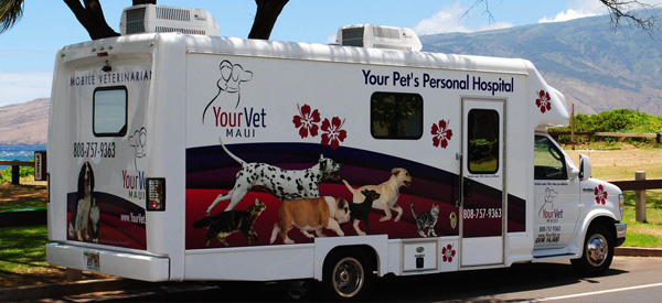 YourVet Maui Mobile Vet Clinic Vehicle
